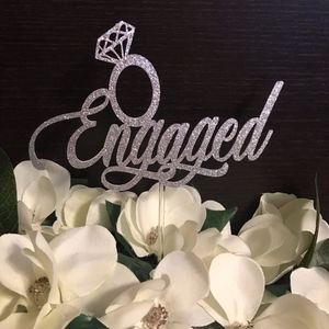 Other - Engaged Cake Topper, Engagement, Wedding Party